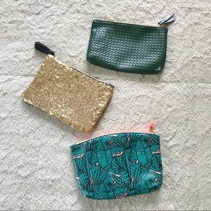 3 New Ipsy Cosmetic Bags